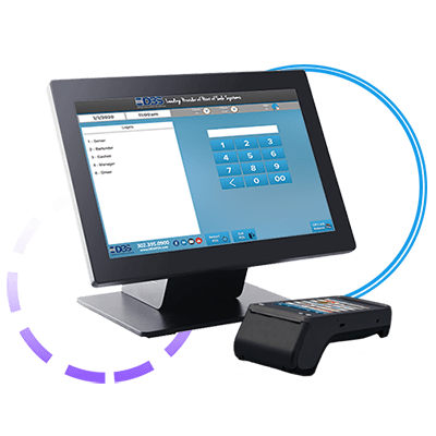 Future POS station with SkyTab terminal